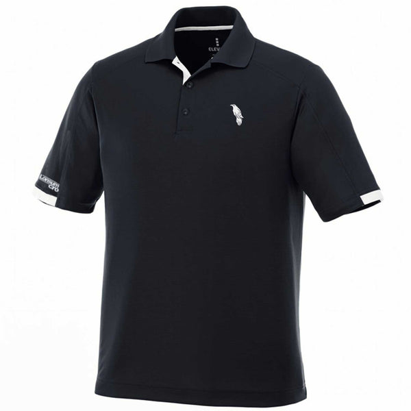 LonsumCRO Men's Golf Shirts in Navy and White Details