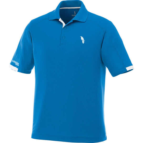 LonsumCRO Men's Golf Shirts in Olympic Blue and White Details