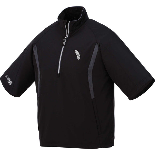 LonsumCRO Men's Half Zipper WindShirts in Black and Grey
