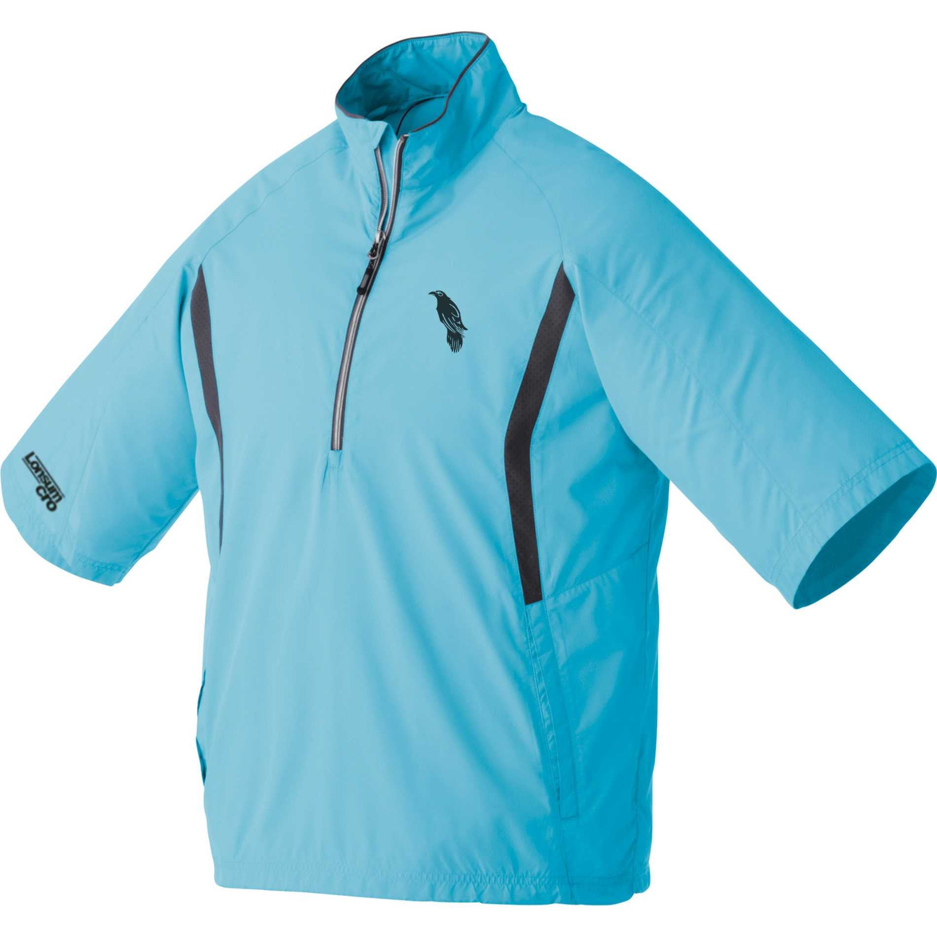 LonsumCRO Men's Half Zipper WindShirts in Chill Blue