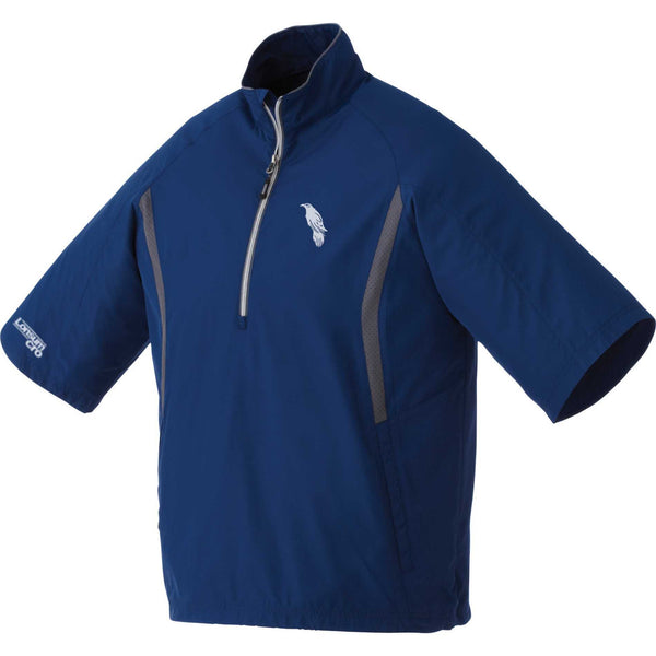 LonsumCRO Men's Half Zipper WindShirts in NAVY BLUE