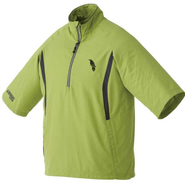 LonsumCRO Men's Half Zipper WindShirts in GREEN