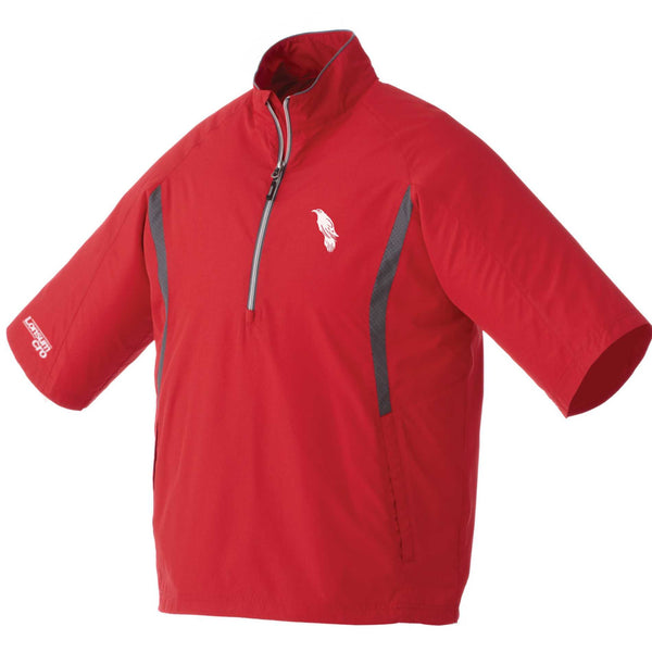 LonsumCRO Men's Half Zipper WindShirts in RED