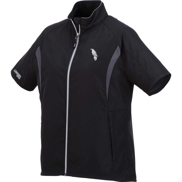LonsumCRO Women's Full  Zipper WindShirts in Black and Grey
