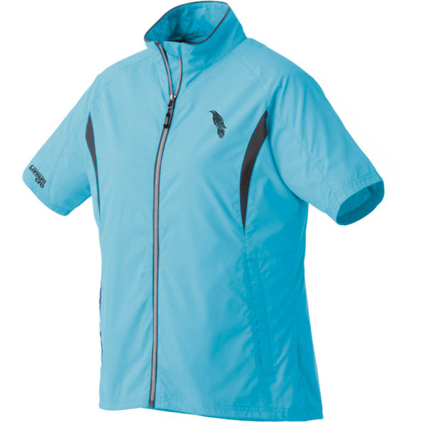 LonsumCRO Women's Full Zipper WindShirts in Ice Blue