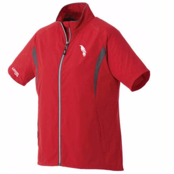 LonsumCRO Women's Full Zipper WindShirts in RED