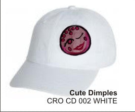 'Cute Dimples'  in White, Golf Hat by LonsumCro Powered by GolfSwag
