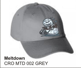 'Meltdown'  in GREY color, Golf Hat, LonsumCro Powered by GolfSwag