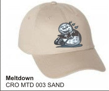 'Meltdown'  in SAND color, Golf Hat, LonsumCro Powered by GolfSwag