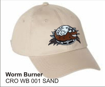 Worm Burner Golf Hat in SAND color - LonsumCro Powered by GolfSwag