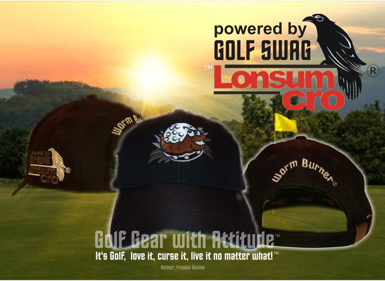 Worm Burner Golf Hat in BLACK color - LonsumCro Powered by GolfSwag