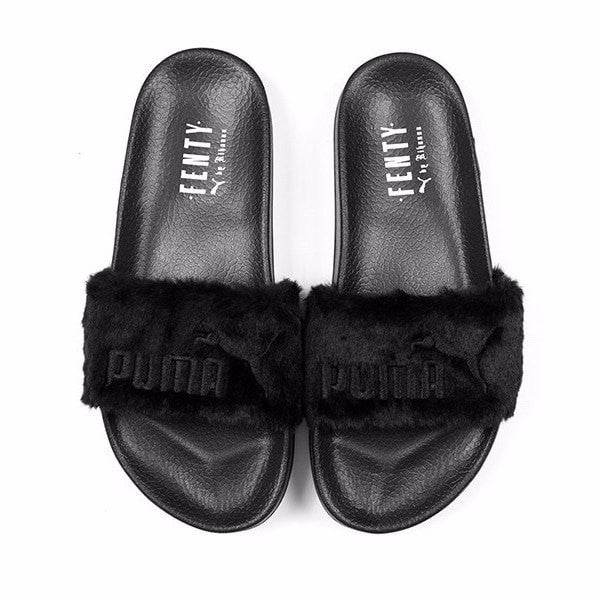 puma x rihanna fenty fur slide panta. Black Bedroom Furniture Sets. Home Design Ideas