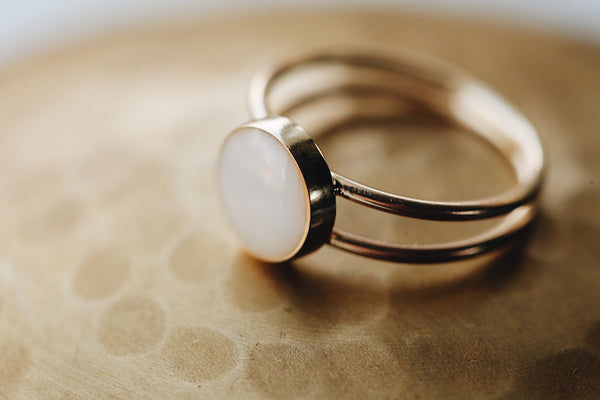 Double Band Keepsake Ring