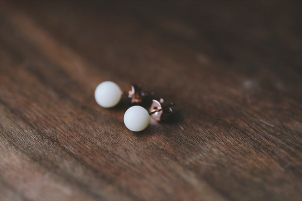 Tiny 6mm Pearl Earrings