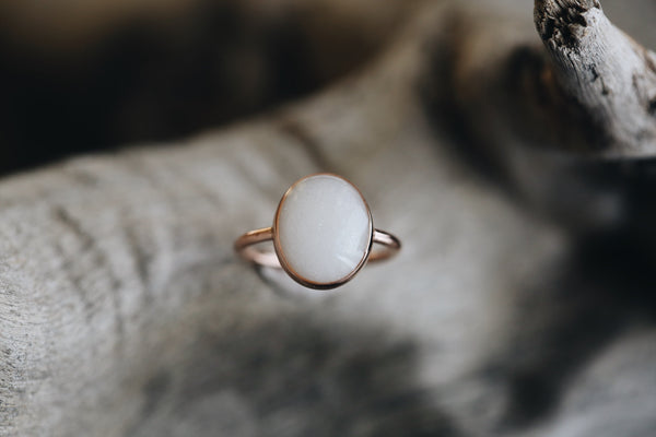 Solid Gold Oval Ring