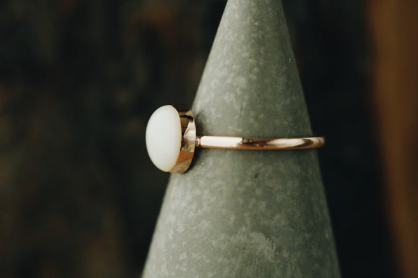 Solid Gold Round Keepsake Ring