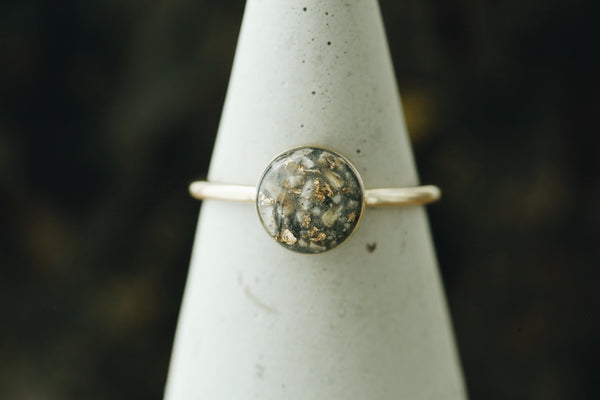 Solid Gold Round Ring