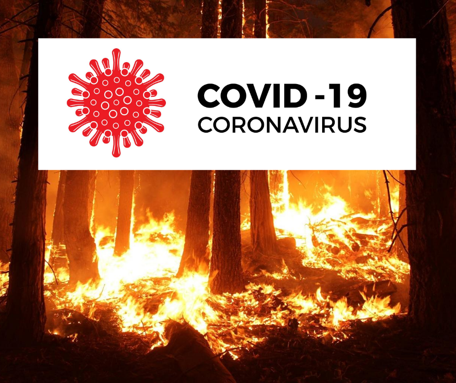 Wildfires and COVID-19