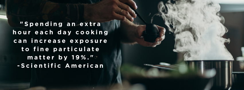 cooking increases exposure to particulate matter