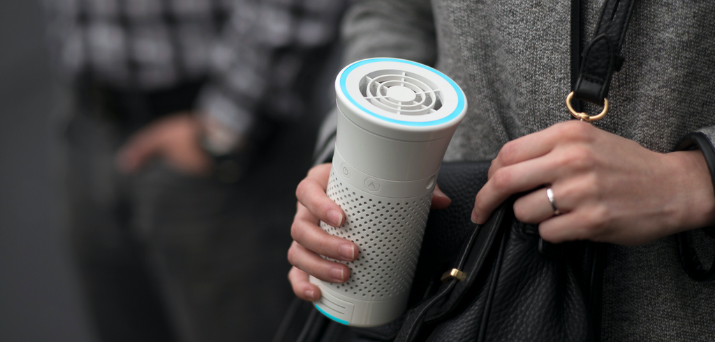 Wynd's Smart Personal Air Purifier On-The-Go