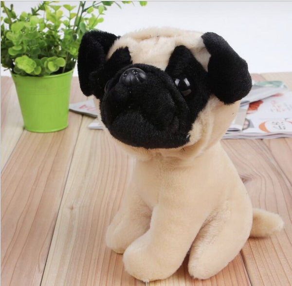 Cute plush pug puppy doll