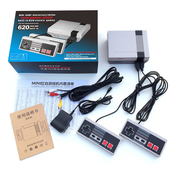 Classic Game System With 620 Original Games + 2 Controllers