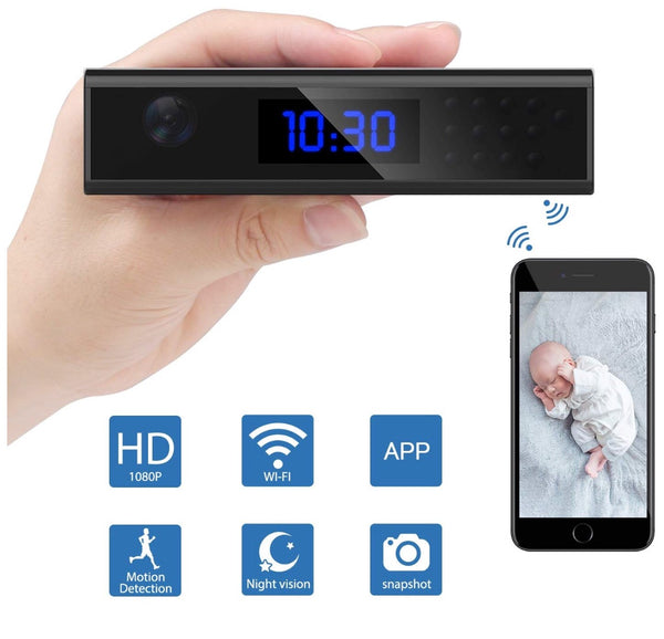 Security Digital Alarm Clock WiFi Wireless Camera
