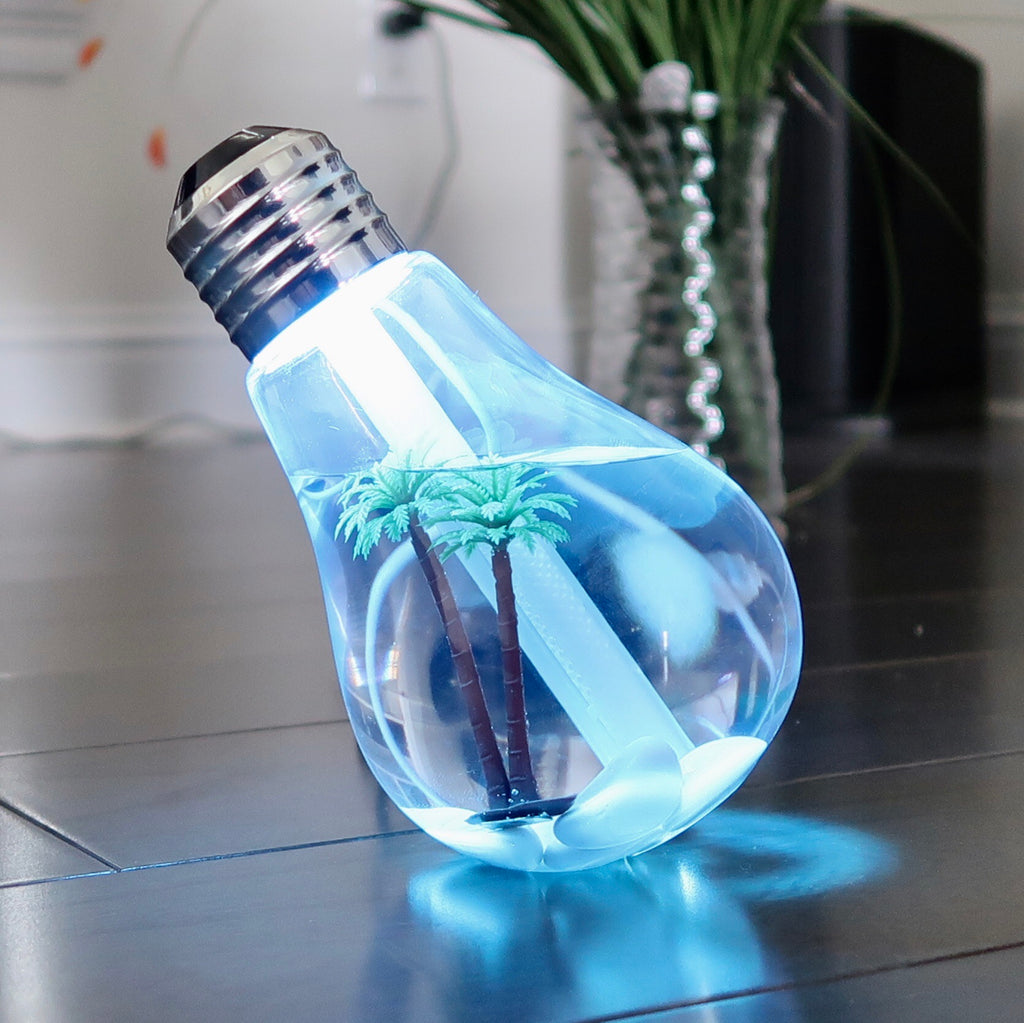 LED Bulb Humidifier Night Light