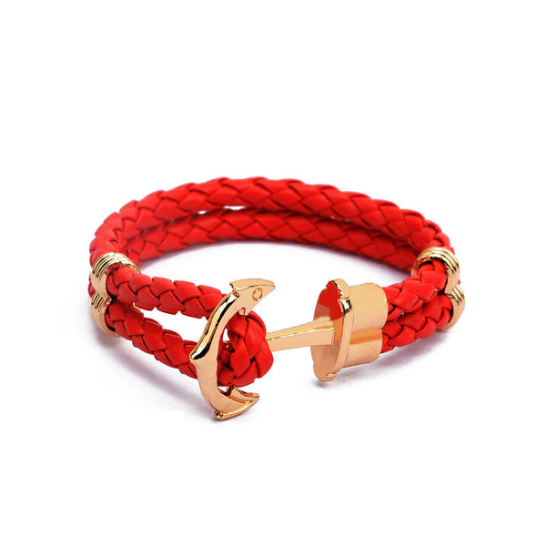 GW® Leather Anchor Bracelet