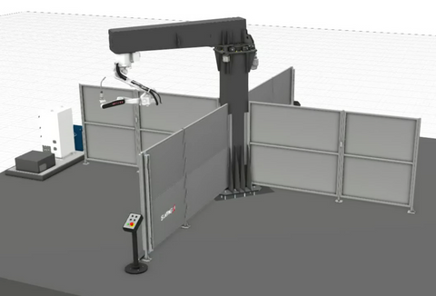 robotic welding system with 4 stations sumig