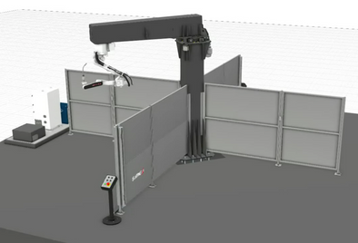 Robotic Welding System for Large Parts with 4 stations