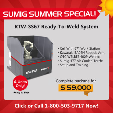2019 SUMMER SPECIAL: RTW-SS67 Compact Single Station Welding Cell - Sumig USA Corporation