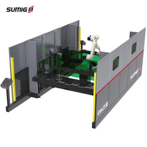 RTW-LT118 Dual Station Back to Back Robotic Cell for Large Parts - Sumig USA Corporation