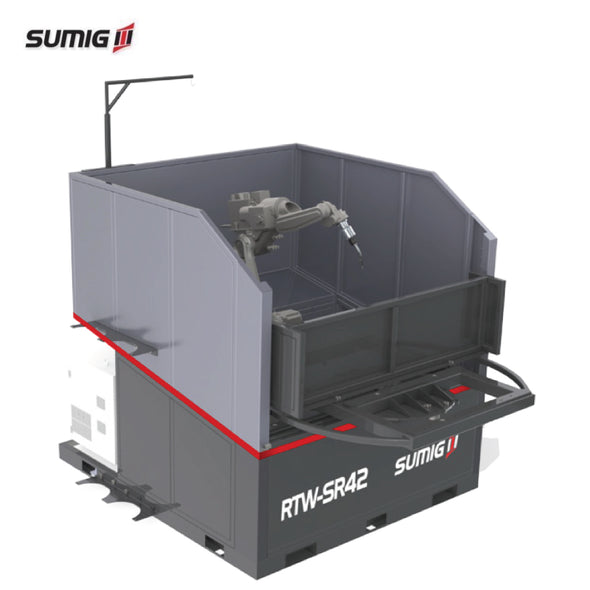 RTW-SR42 Compact Dual Station w/ Rotating Table Robotic Cell - Sumig USA Premium Welding Equipment Supplies and Robotics