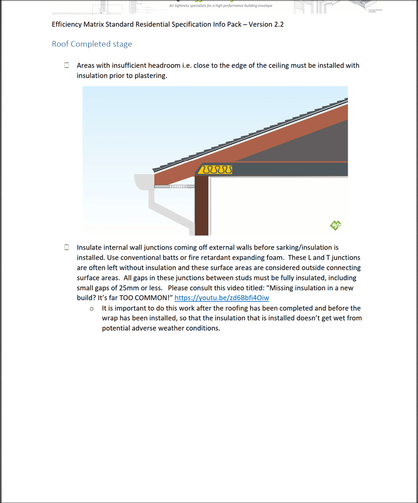 EM Standard Residential Specification Infopack (pdf) - Tight House