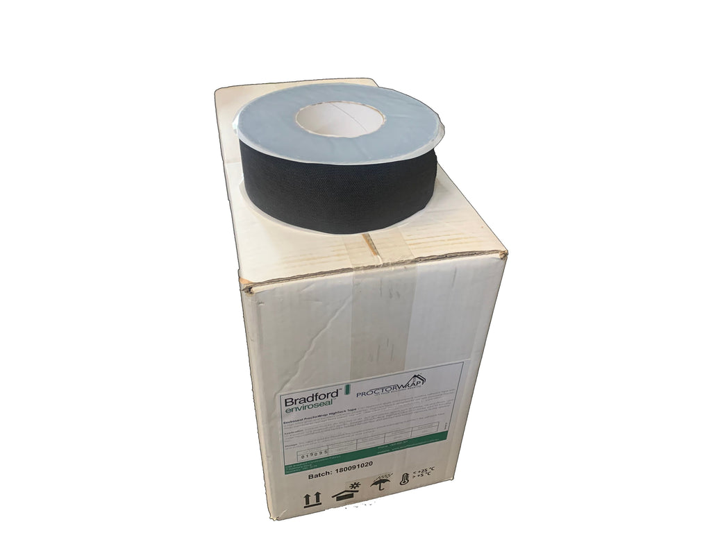 Box of 10 Black External Membrane Tape 60mm (25 metres per Roll)  Tight House