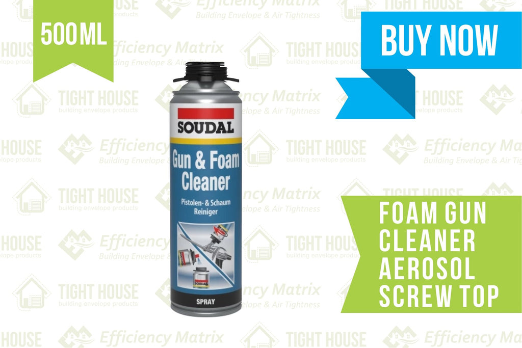Foam Gun Cleaner - 500ml Aerosol (Screw Top) - Tight House