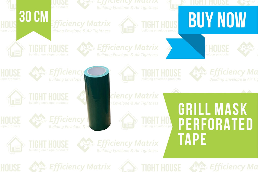 Grill Mask Tape (30 cm) Perforated every 30cm (60m) - Air Leakage Testing - Tight House