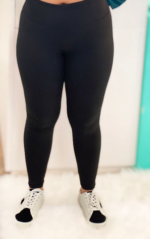 Black Yoga Stitch Leggings