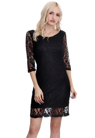 Crochet Zip Back Dress Multiple Colors Available, Knee High Dresses