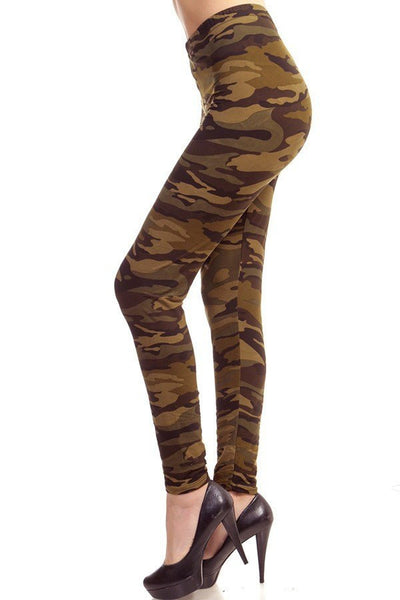 Army Wife Printed Leggings, Printed Leggings