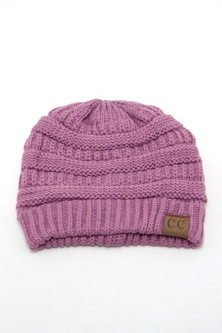 Lavender Solid Color CC Beanie, Beanies