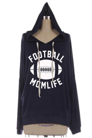 Football Mom Life Hoodie, Hoodies