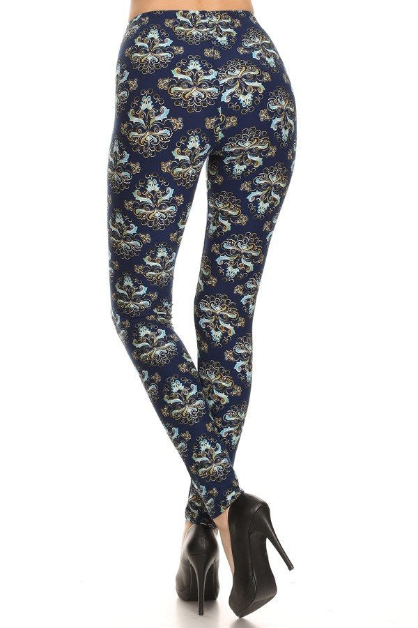 Abstract Aly Printed Leggings, Printed Leggings
