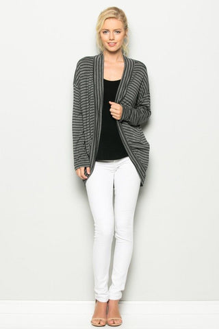 Annabelle Breeze Cardigan in Black & Charcoal, Cardigans