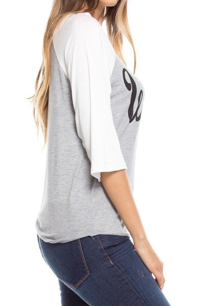Wifey Raglan Print Tee, Long Sleeve Tops