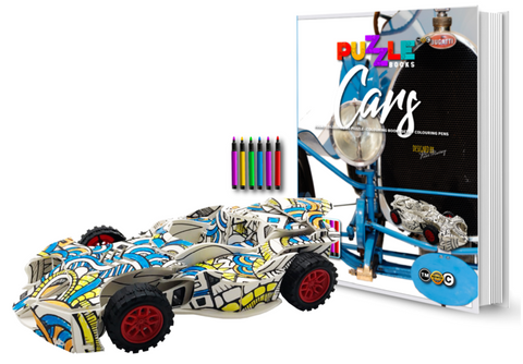 3D Puzzle Colouring Book - Cars