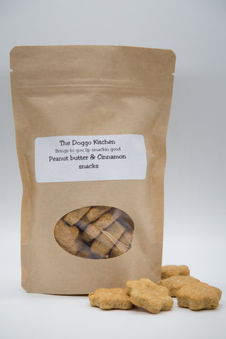 Peanut Butter & Cinnamon Doggo Snacks - Wholemeal 150g