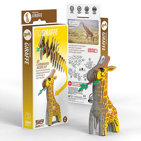 Giraffe - 3D Cardboard Model Kit