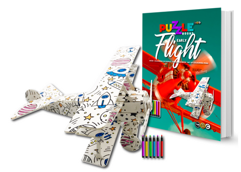 3D Puzzle Colouring Book - Flight